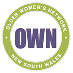 Older Women's Network NSW logo - Promoting the rights, dignity & wellbeing of older women