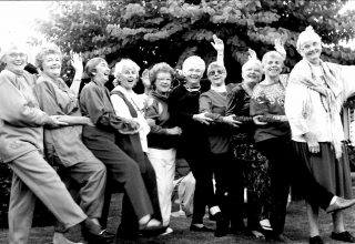 1993 - Group shot of theatre women