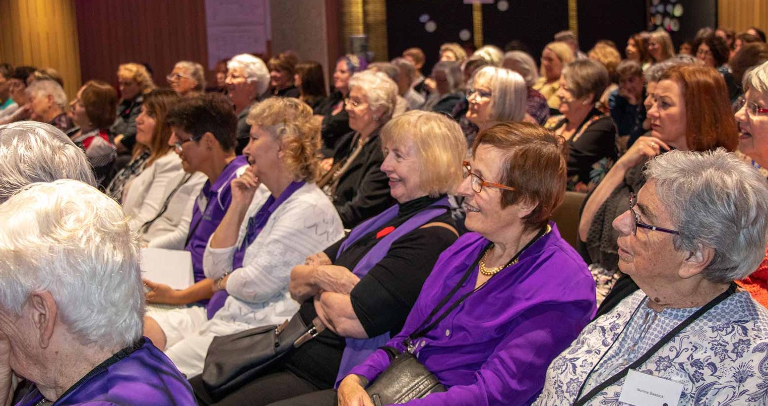 Audience members at the National Conference of the National Older Women's Network 2019