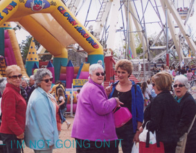 A group of women at the showgrounds