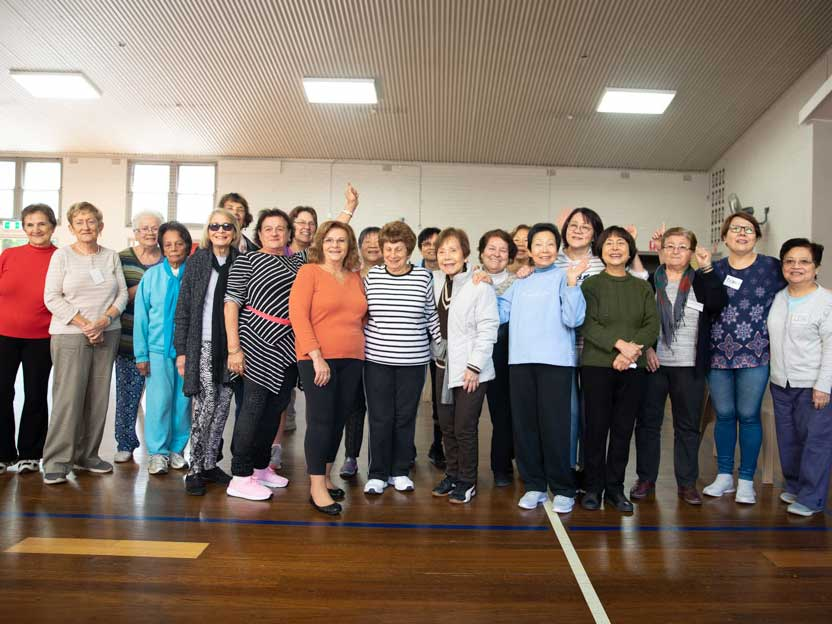 A group of Bankstown Wellness women posing for the camera