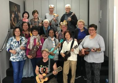 Bankstown Ukulele Group with Laura Brown, teacher extraordinaire