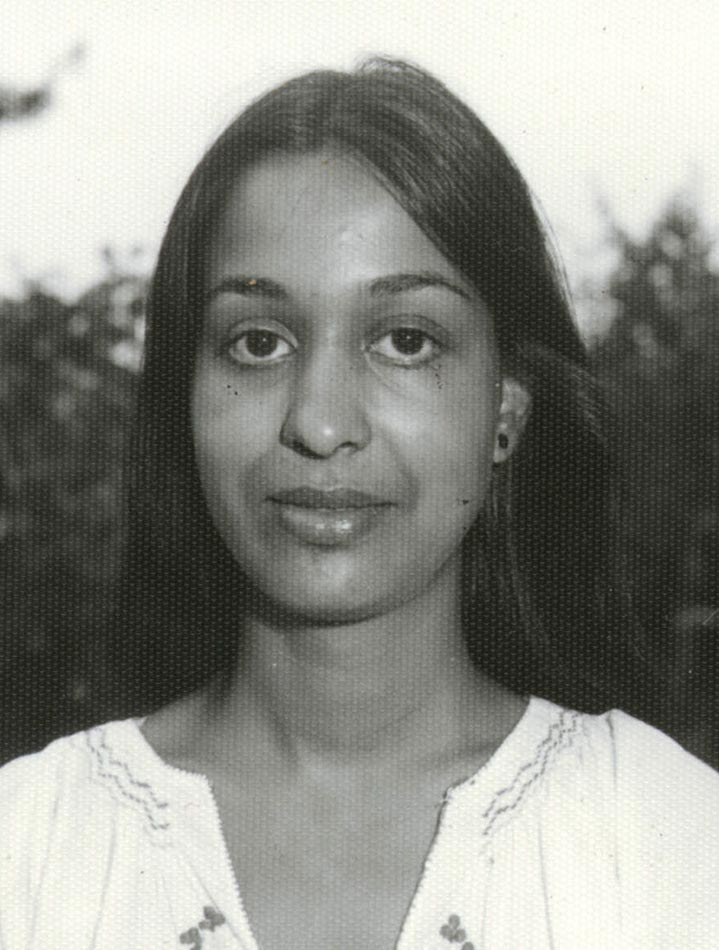 A portrait of a young Menaka