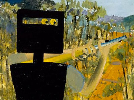 Sidney Nolan painting of Ned Kelly